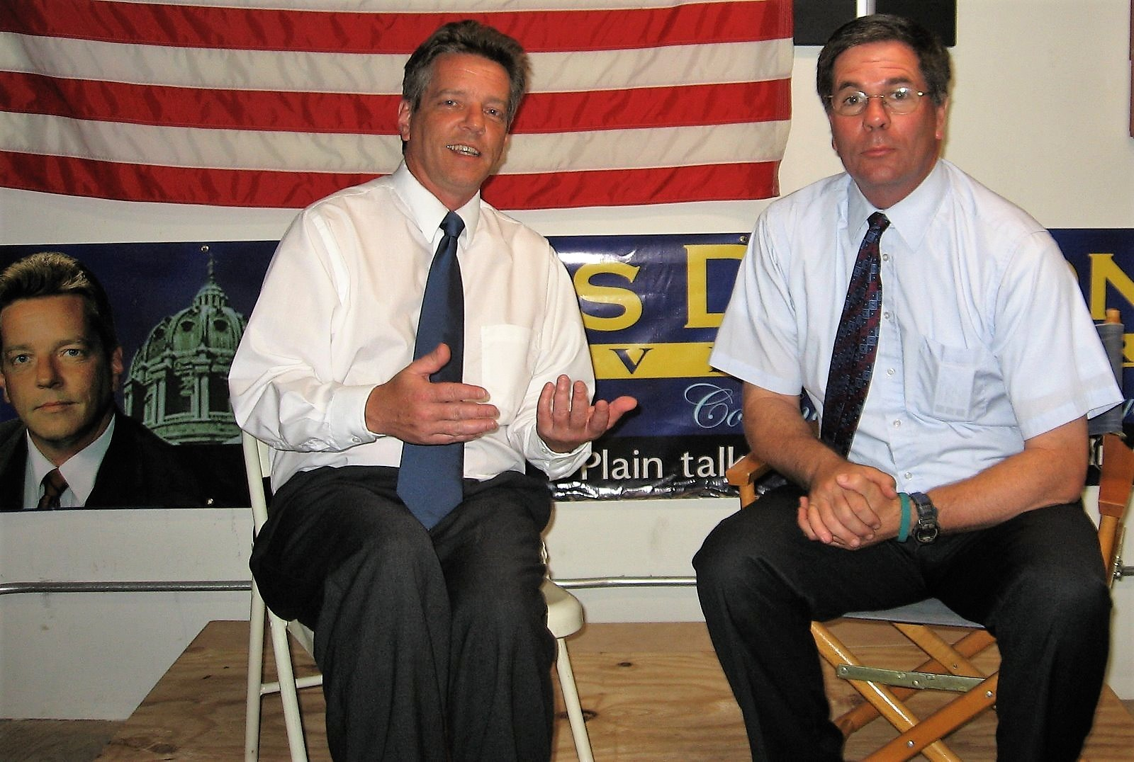 Russ Diamond and Mark Rauterkus at an event in Pittsburgh's South Side