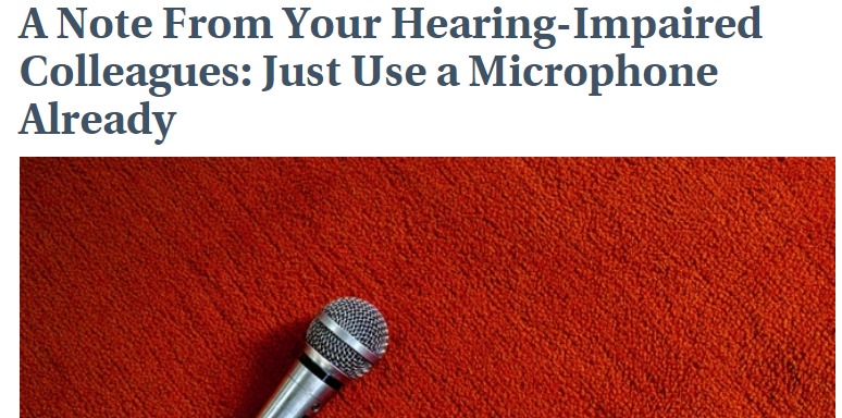 Headline in photo, use the microphone